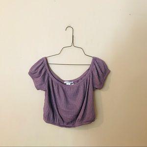 NWT Dusty Purple Knit Crop Top